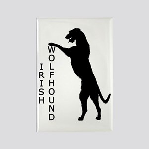 Tall Irish Wolfhound Rectangle Magnet