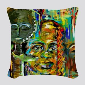 Beautiful Child Woven Throw Pillow