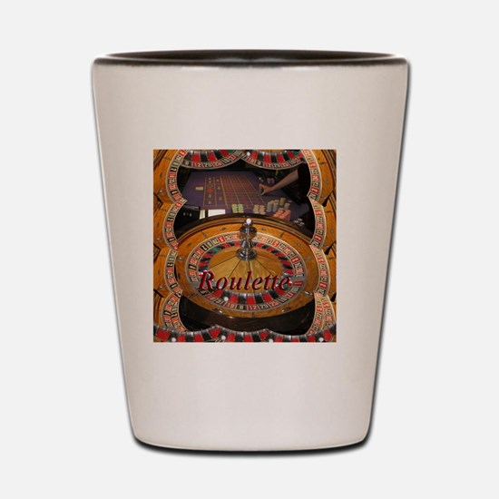 casino roulette table montage Shot Glass