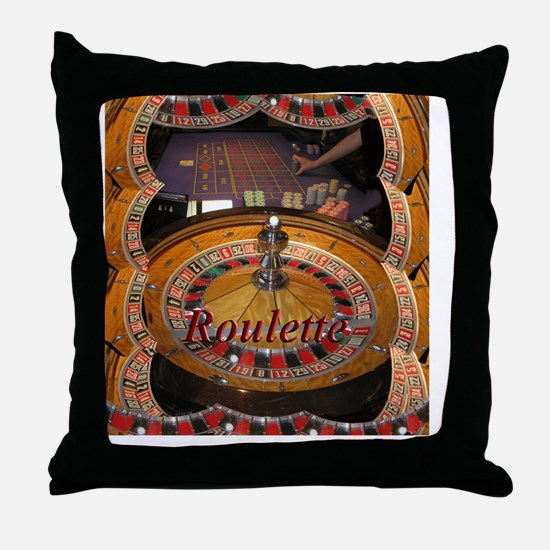 casino roulette table montage Throw Pillow