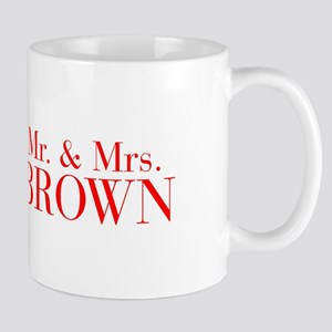 Mr Mrs BROWN-bod red Mugs
