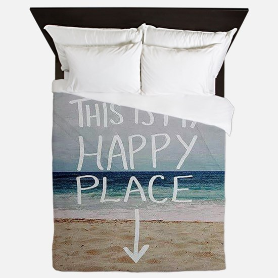 This Is My Happy Place Queen Duvet