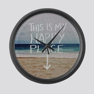 This Is My Happy Place Large Wall Clock