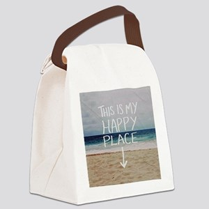 This Is My Happy Place Canvas Lunch Bag
