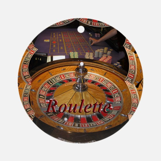 casino roulette table montage Ornament (Round)