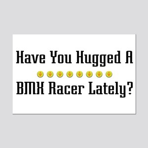 Hugged BMX Racer Mini Poster Print