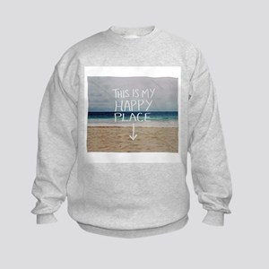 This Is My Happy Place Kids Sweatshirt