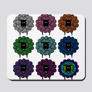 A Rainbow of Sheep Mousepad