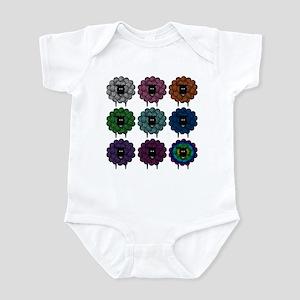 A Rainbow of Sheep Infant Bodysuit