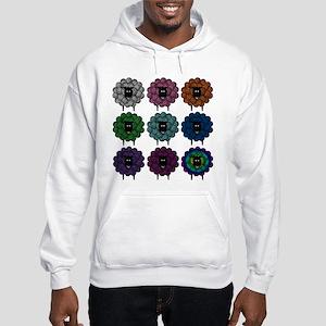 A Rainbow of Sheep Hooded Sweatshirt