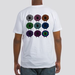 A Rainbow of Sheep Fitted T-Shirt