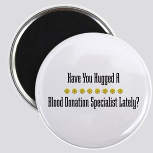 Hugged Blood Donation Specialist Magnet
