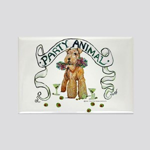 Airedale Terrier Party Rectangle Magnet