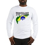 Brazilian flag BJJ Long Sleeve T-Shirt