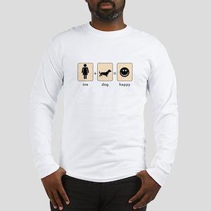 Woman Plus Dog equals Happy Long Sleeve T-Shirt