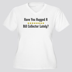 Hugged Bill Collector Women's Plus Size V-Neck T-S