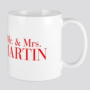 Mr Mrs MARTIN-bod red Mugs