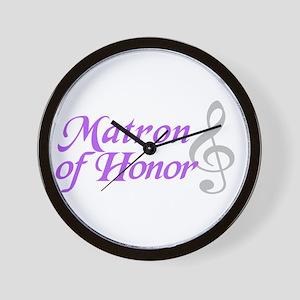 Matron of Honor(clef) Wall Clock