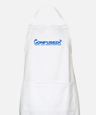 Confused? Nope, Just Mixed He BBQ Apron