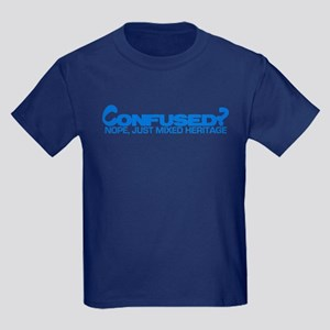 Confused? Nope, Just Mixed He Kids Dark T-Shirt