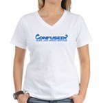 Confused? Nope, Just Mixed He Women's V-Neck T-Shi