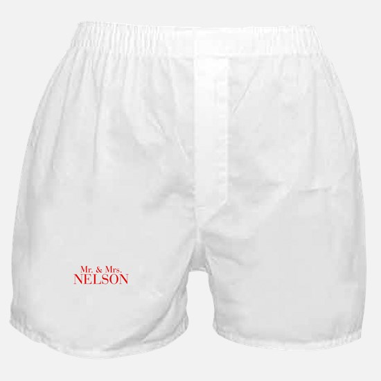 Mr Mrs NELSON-bod red Boxer Shorts