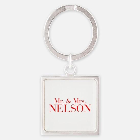 Mr Mrs NELSON-bod red Keychains
