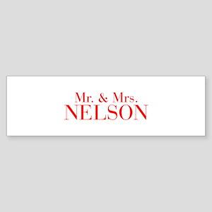 Mr Mrs NELSON-bod red Bumper Sticker