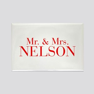 Mr Mrs NELSON-bod red Magnets