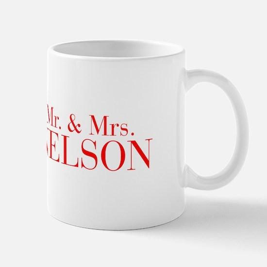 Mr Mrs NELSON-bod red Mugs