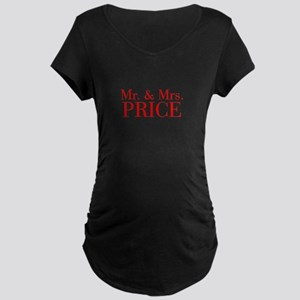 Mr Mrs PRICE-bod red Maternity T-Shirt