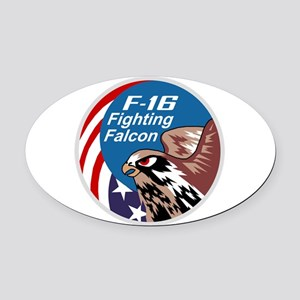fighting_falcon Oval Car Magnet