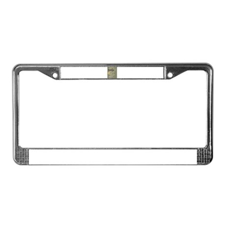 Stitch print License Plate Frame