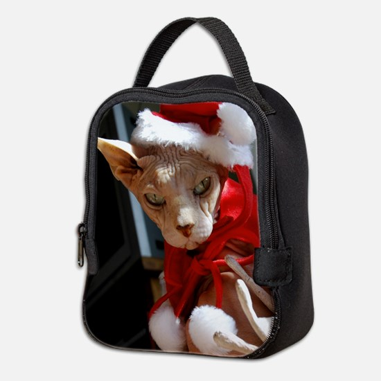 xmas_cat.jpg Neoprene Lunch Bag