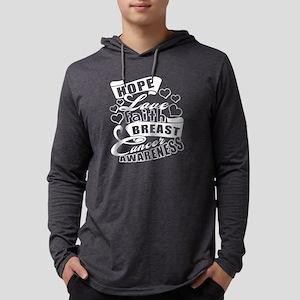Hope Love Faith Breast Cancer Long Sleeve T-Shirt