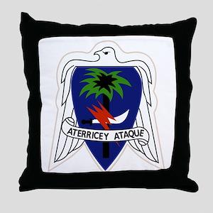 551st Airborne Infantry Regiment Mili Throw Pillow
