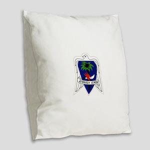 551st Airborne Infantry Regime Burlap Throw Pillow