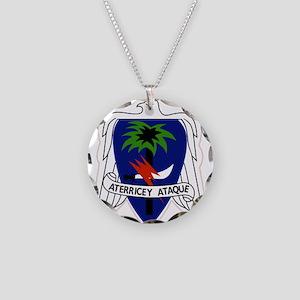 551st Airborne Infantry Regi Necklace Circle Charm