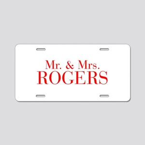 Mr Mrs ROGERS-bod red Aluminum License Plate