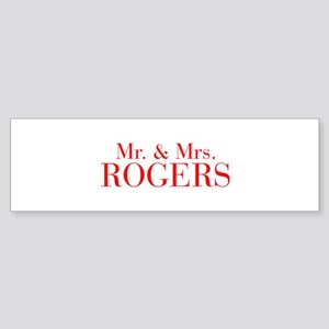 Mr Mrs ROGERS-bod red Bumper Sticker