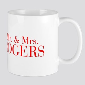 Mr Mrs ROGERS-bod red Mugs