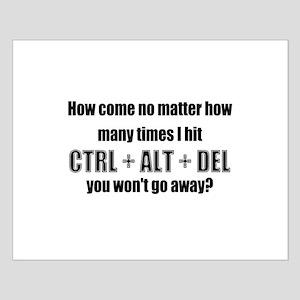CTRL+ALT+DEL Small Poster