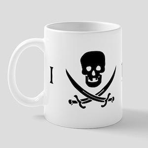 I Love Pirates Mug