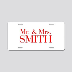 Mr Mrs SMITH-bod red Aluminum License Plate