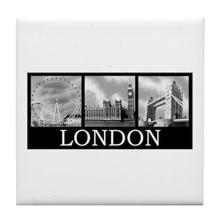 London gray Tile Coaster