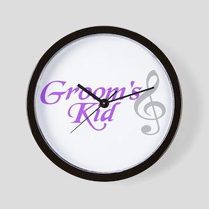 Groom's Kid(T.clef) Wall Clock