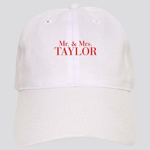 Mr Mrs TAYLOR-bod red Baseball Cap