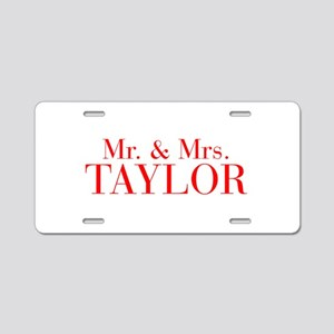 Mr Mrs TAYLOR-bod red Aluminum License Plate