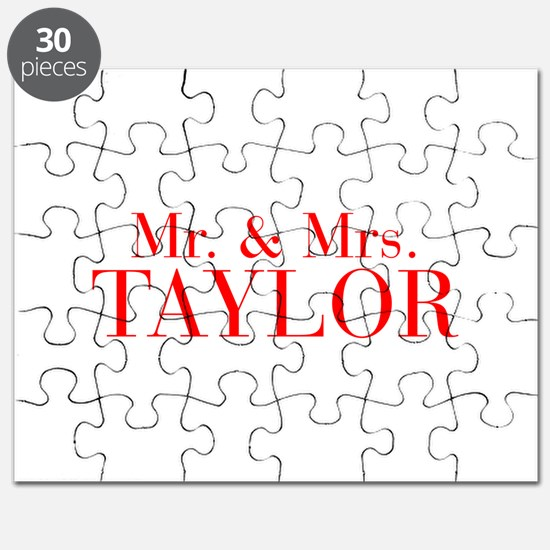 Mr Mrs TAYLOR-bod red Puzzle