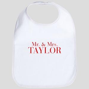 Mr Mrs TAYLOR-bod red Bib